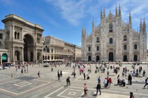 Milano Piazza  Duomo e Galleria Vittorio Emanuele